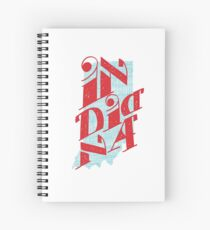 United Shapes of America - Indiana Spiral Notebook