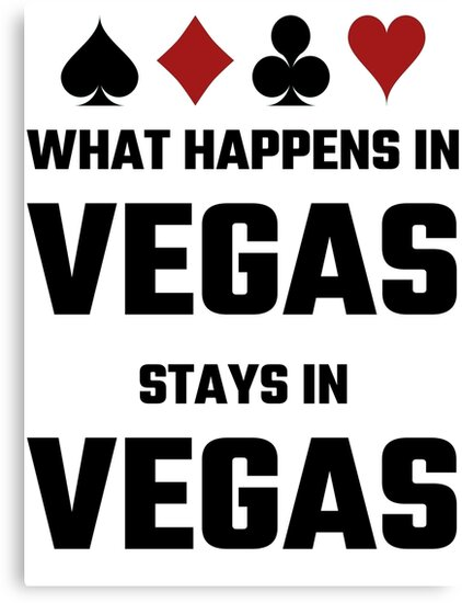 """""""What Happens In Vegas Stays In Vegas"""" Canvas Print by ... What Happens In Vegas Logo"""