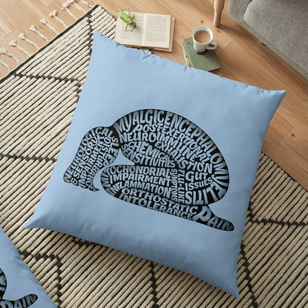 The Misery of ME by Jill Thompson Floor Pillow