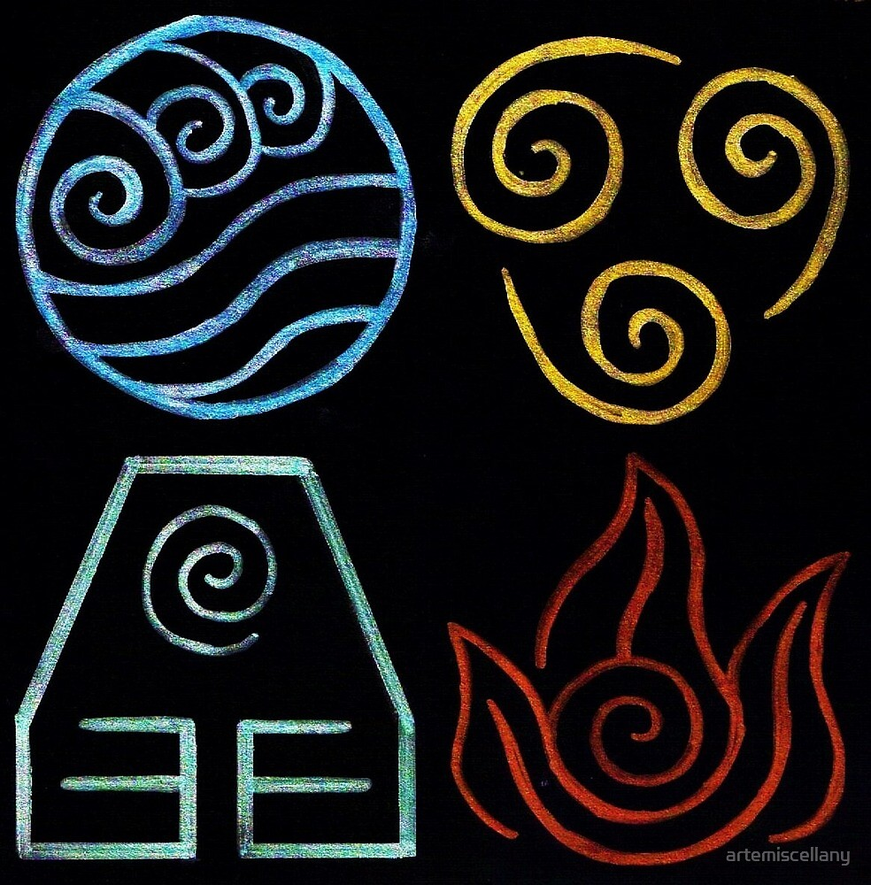 Avatar Four Elements by artemiscellany