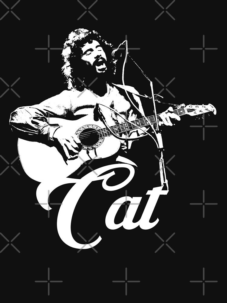 Gato Stevens - Plantilla Blanca de threeampersands