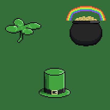 Pixel St. Patrick's Day Symbols by Zeeph