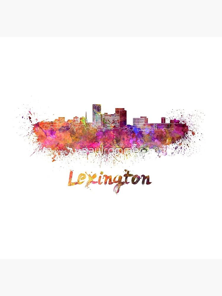 Lexington-Skyline im Aquarell von paulrommer