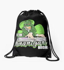Let the Shenanigans Begin! DJ Humor T-Shirt Drawstring Bag
