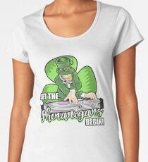 Let the Shenanigans Begin! DJ Humor T-Shirt Women's Premium T-Shirt