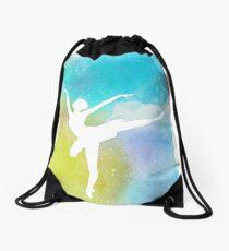 Ballet Clouds Drawstring Bag