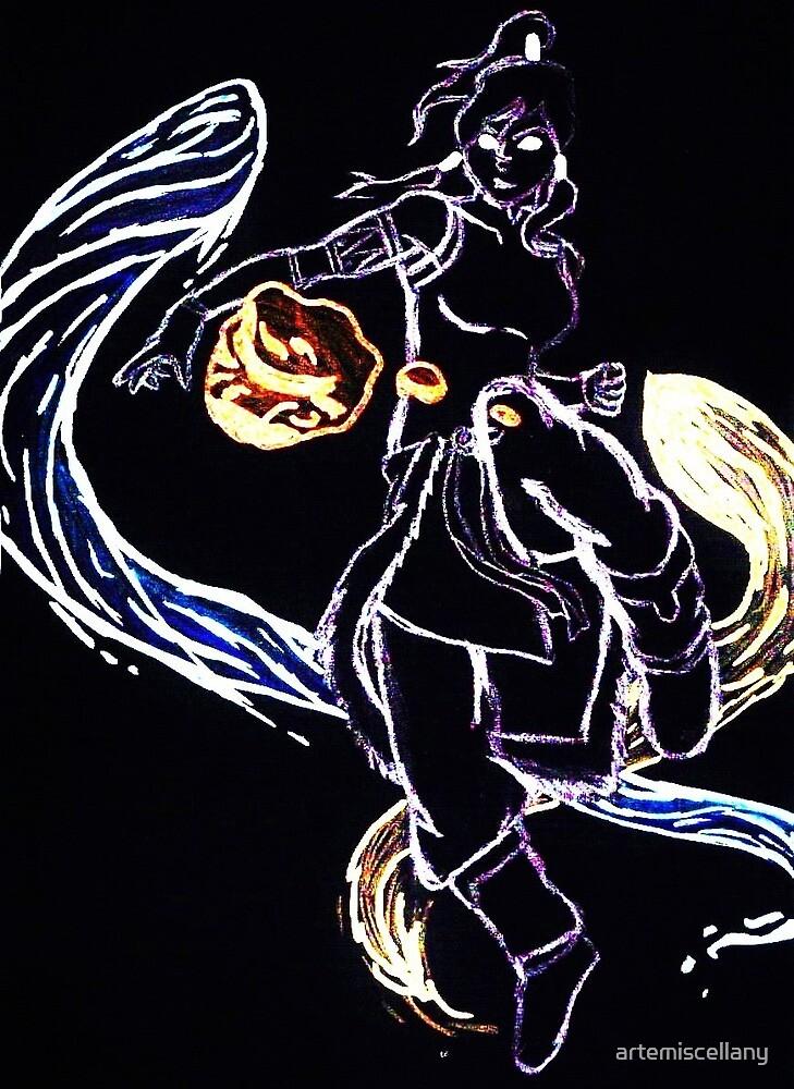 Avatar Korra Three Elements by artemiscellany