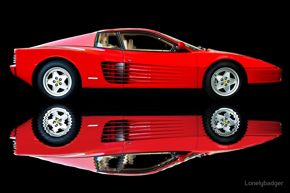 Testarossa reflections by Lonelybadger
