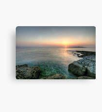 Sunset at Doolin Pier Canvas Print
