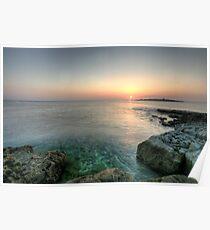 Sunset at Doolin Pier Poster