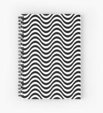 Nahtlose Zebra-Haut-gewelltes Muster-einfarbige einfarbige Zusammenfassung Spiralblock