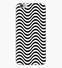 Nahtlose Zebra-Haut-gewelltes Muster-einfarbige einfarbige Zusammenfassung iPhone-Hülle & Cover