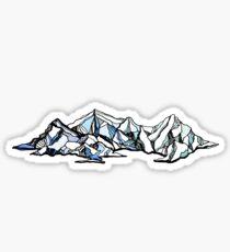 Alpine Mountain Line Art Sticker
