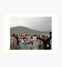 Dancing at Khanpur Watersport Extravaganza Festival 2010 Art Print