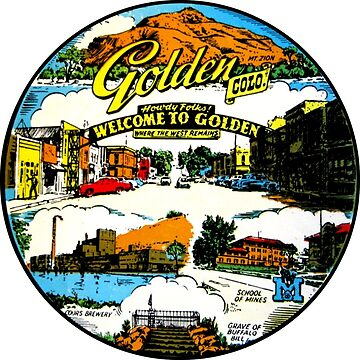 Calcomanía de viaje dorada de Colorado de hilda74