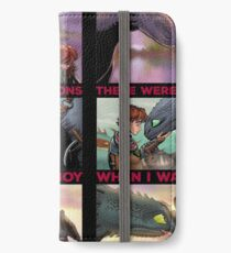 There Were Dragons When I Was A Boy iPhone Wallet/Case/Skin