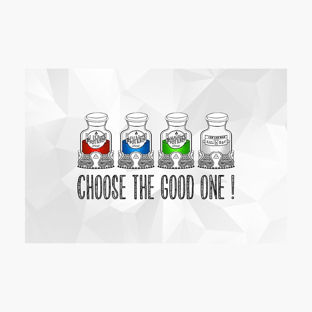 ¡Elige el bueno! Lámina fotográfica