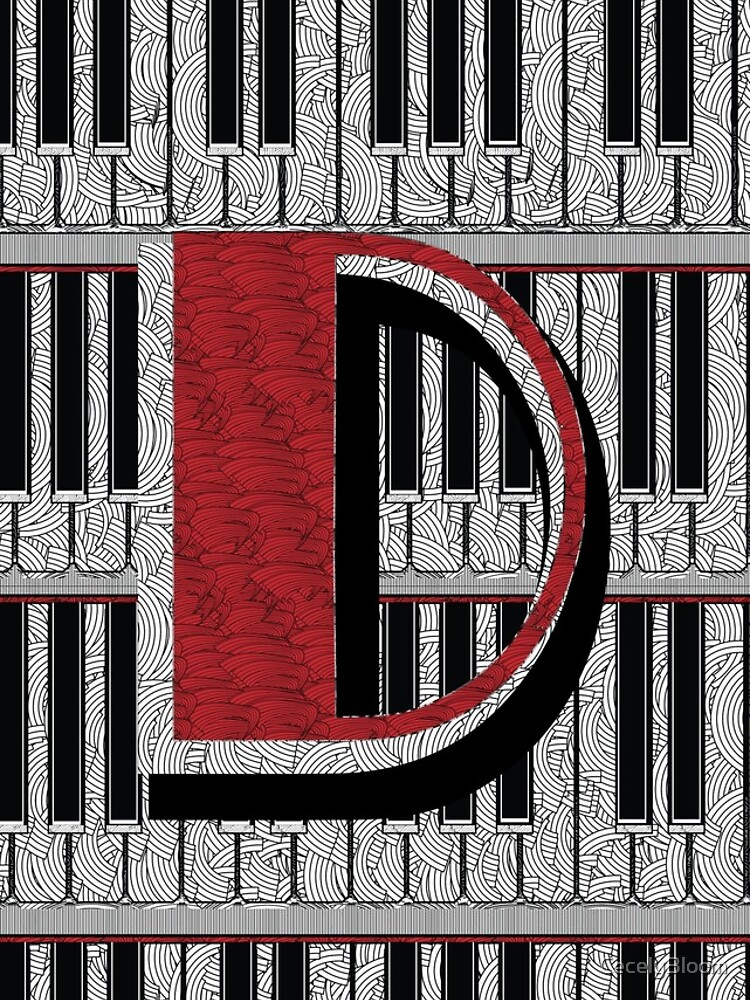 Piano Deco Monogram D by CecelyBloom