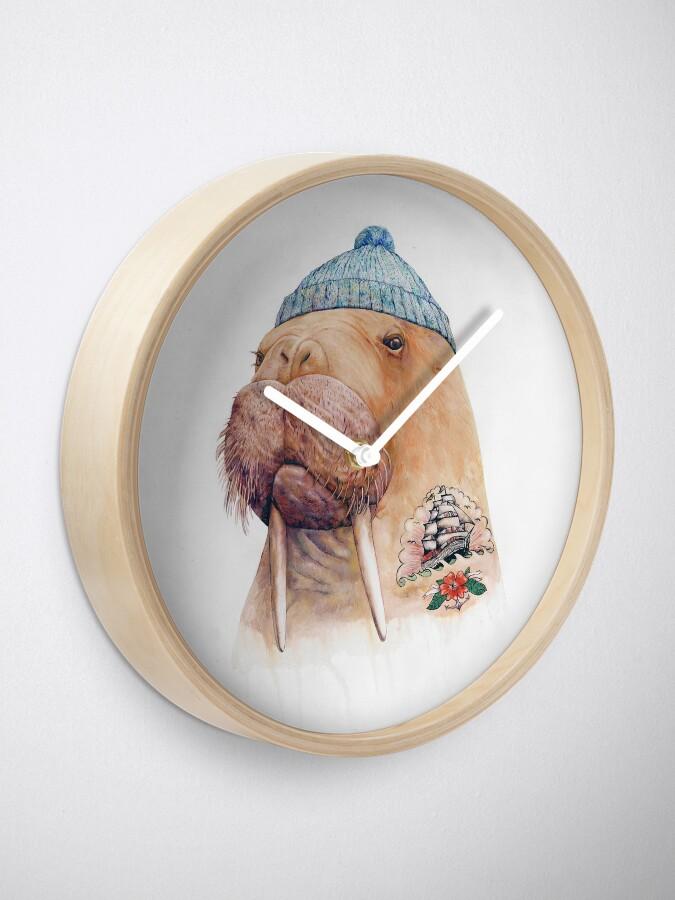 Alternate view of Tattooed Walrus Clock