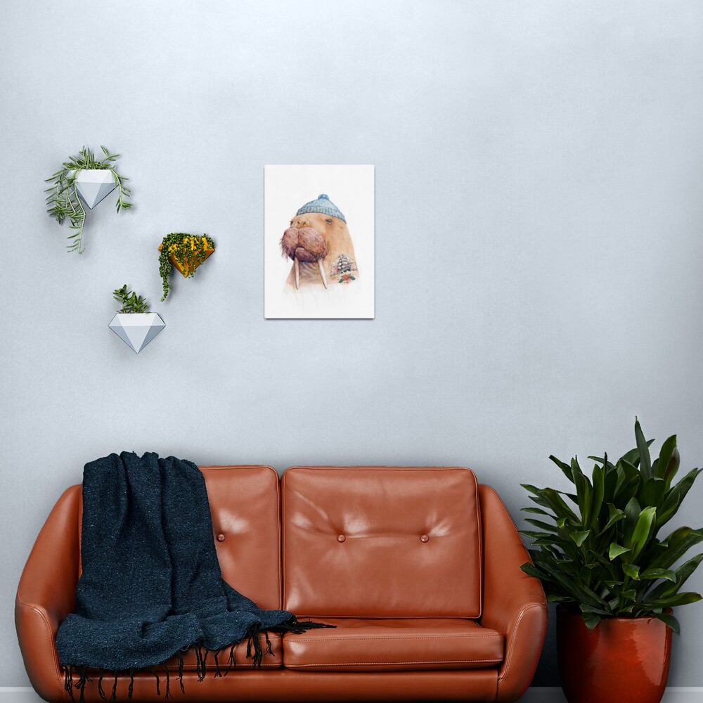 Tattooed Walrus Metal Print