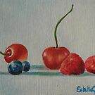 Cherries and berries by Estelle O'Brien