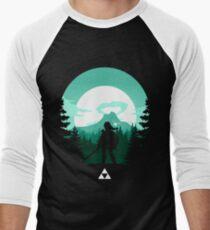 Camiseta ¾ bicolor para hombre La leyenda de Zelda (verde)