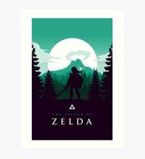 The Legend of Zelda (Green) Art Print