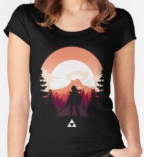 The Legend of Zelda (Orange) Tailliertes Rundhals-Shirt