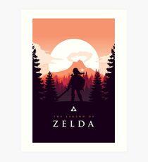 The Legend of Zelda (Orange) Art Print