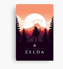 The Legend of Zelda (Orange) Canvas Print
