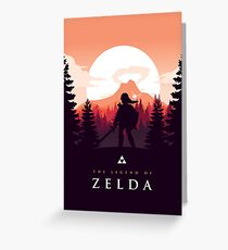 The Legend of Zelda (Orange) Greeting Card