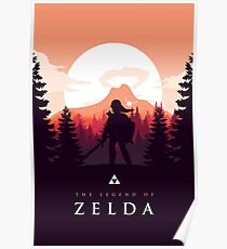 The Legend of Zelda (Orange) Poster