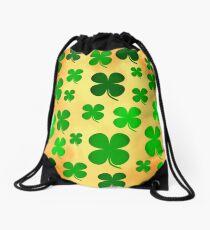 Shamrock clover St.-Patricksday Drawstring Bag