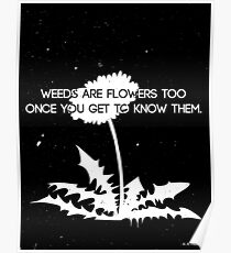 Weeds are Flowers Too Poster
