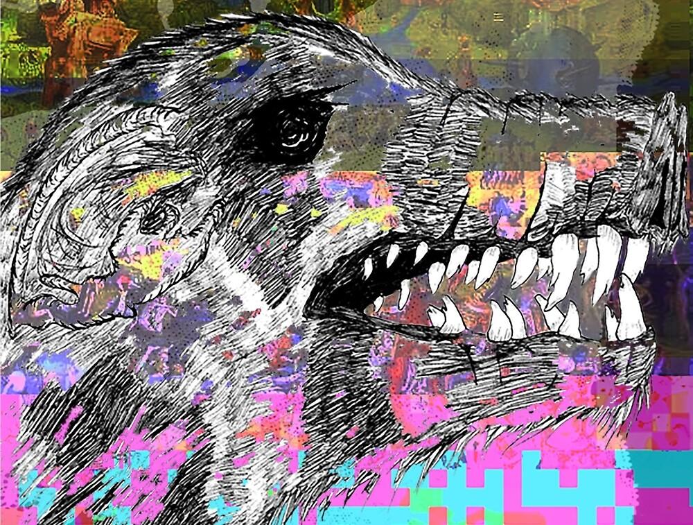Glitch Boar, scary teeth by psychotica