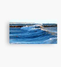 Heavy Surf Canvas Print
