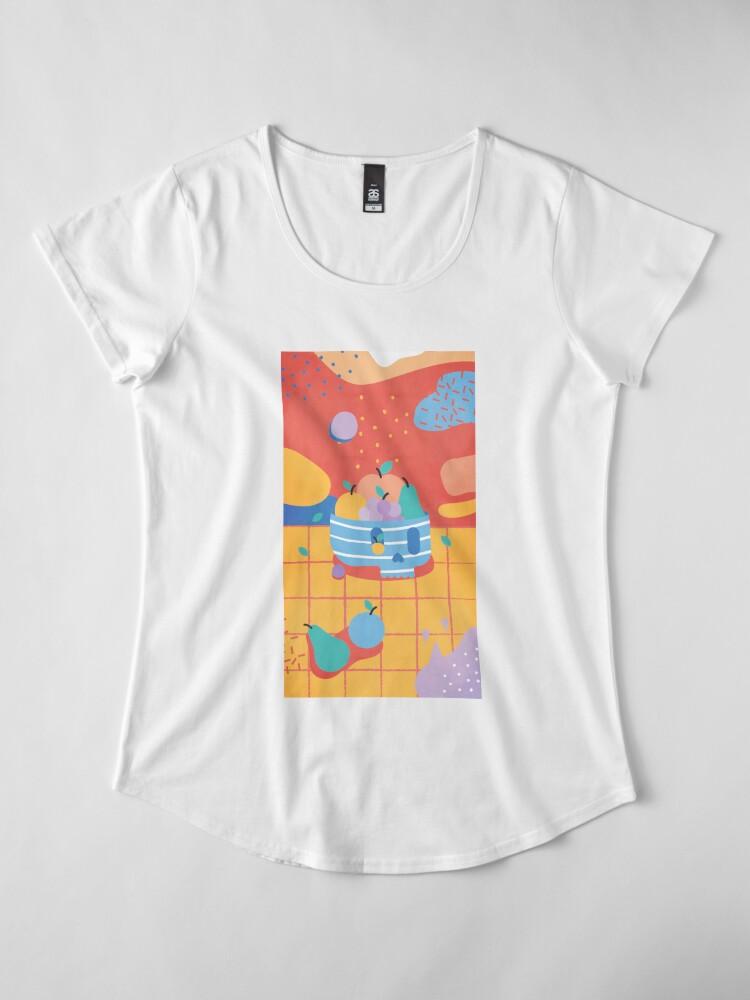 Alternate view of Skull Fruit Bowl Premium Scoop T-Shirt