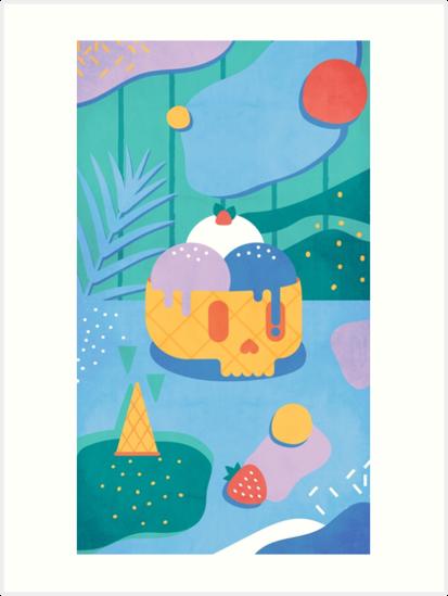 «Cono de helado de calavera» de no-eye-deer