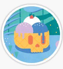 Skull Ice Cream Cone Sticker