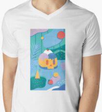 Schädel-Eistüte T-Shirt mit V-Ausschnitt für Männer