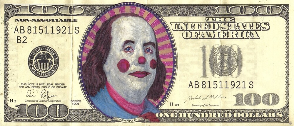 clown cash by andygreer