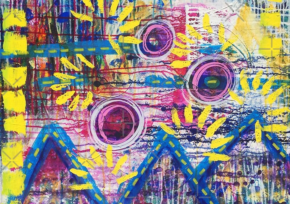 Mountains of Abundance: Inner Power Painting by mellierosetest