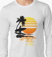 Surfing Sunrise Long Sleeve T-Shirt