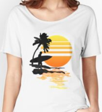 Surfing Sunrise Relaxed Fit T-Shirt
