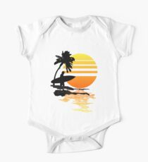 Surfing Sunrise Short Sleeve Baby One-Piece