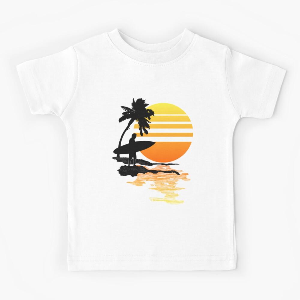 Surfender Sonnenaufgang Kinder T-Shirt