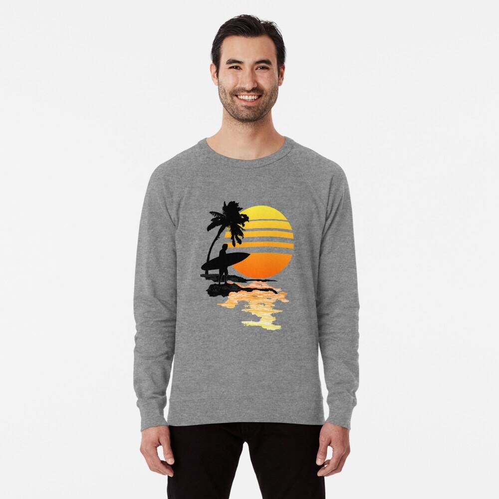 Surfender Sonnenaufgang Leichter Pullover