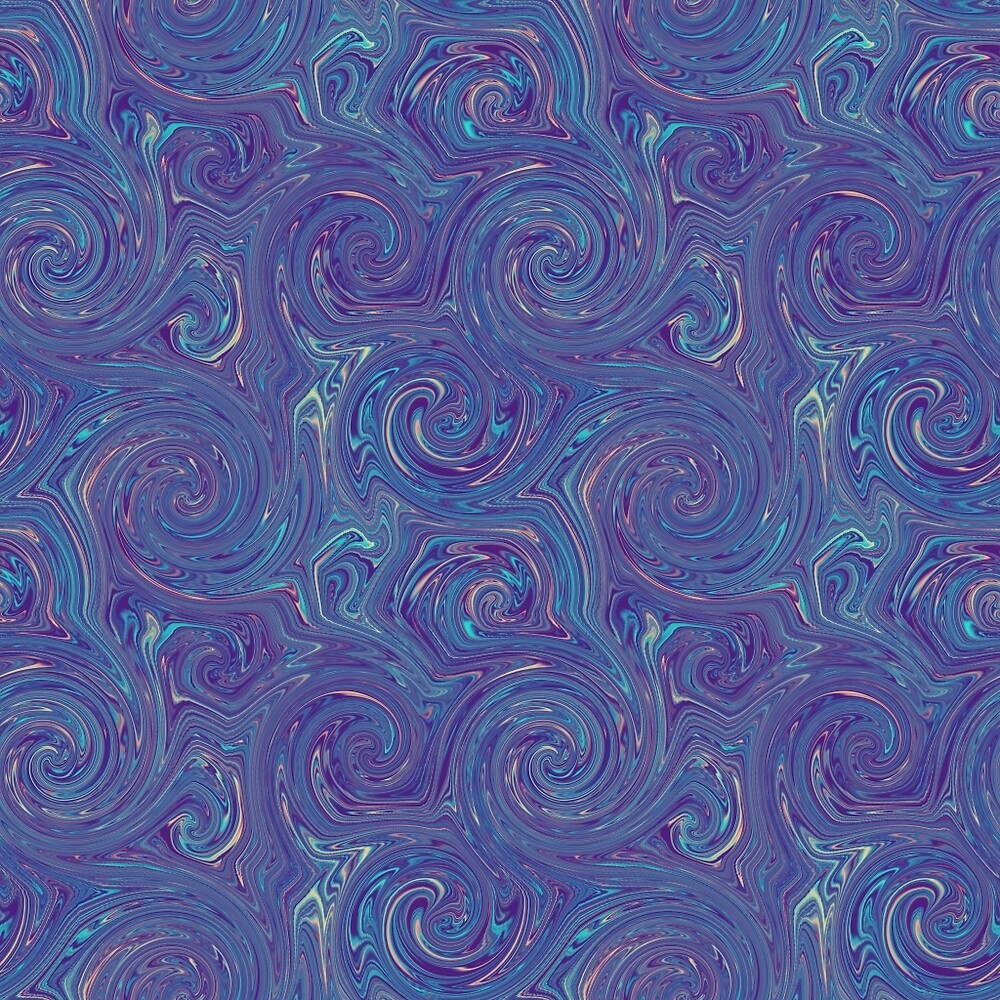 Peacock Swirls by Sunflow