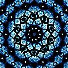 Blau Stern Mandala von Costa100