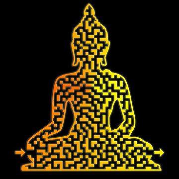 Buddha Shaped Maze & Labyrinth by gorff